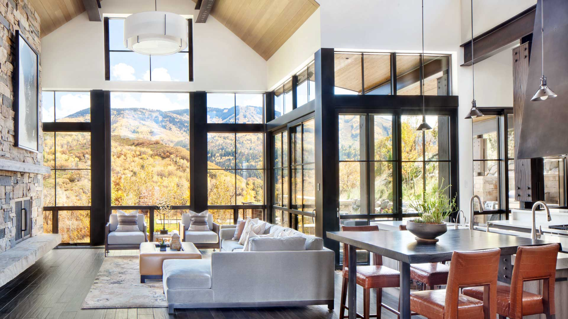 interior great room architecture colorado mountain architects vertical arts